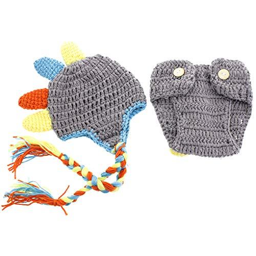 Muster Kostüm Häkeln - fgghfgrtgtg Nettes Muster neugeborenes Baby-Mädchen-Kostüm Outfits Fotografie Props Wolle Hörner Hut Hosen