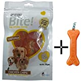Super Bite Chicken Chips Dog Treats (Pack Of 4) With Key Chain