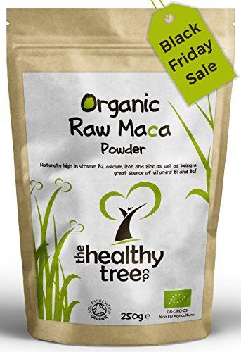 Maca Pulver BIO   Premium-Qualität Superfood, geeignet für Vegetarier und Veganer   Reich an Vitamin B1, B2, B6, Kalzium, Eisen und Zink   Soil Association zertifizierter biologischer Anbau   Maca-Pulver von TheHealthyTree Company