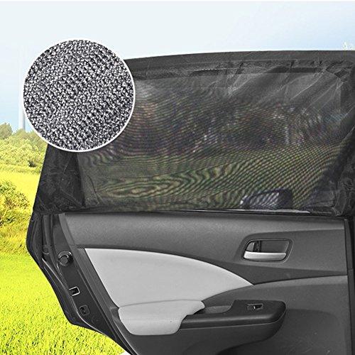 QIND 2Pcs Auto Fenster Fliegennetz Universal Auto Sonnenschutz Netz Visier für Auto Fenster,...