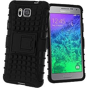 Avizar - Coque Antichocs Bimatière pour Samsung Galaxy Alpha - Noir