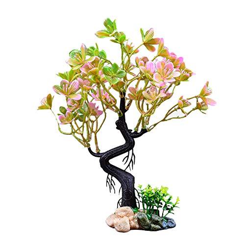 Toruiwa Aquarium Dekoration Künstliche Pflanzen Blume Aquarium Wasserpflanzen Aquariumpflanzen Plastikpflanzen Aquarium Zierblätter für Aquarien (8 * 5 * 25cm)