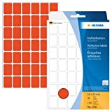 Herma 2382 Vielzweck Etiketten farbig rot (16 x 22 mm) 1.344 Klebeetiketten, 32 Blatt Papier matt, selbstklebend, Handbeschriftung
