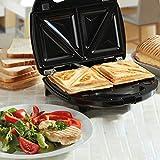 NETTA Sandwichmacher | Sandwichtoaster mit extra tiefen Grillplatten | 750W
