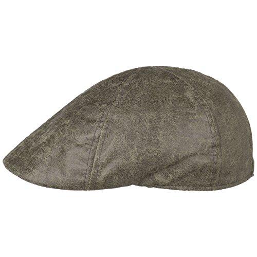 Lipodo Used Look Flatcap Herren | Schirmmütze aus 60% Baumwolle, 40% Polyester | Cap in M (57-58 cm) | Mütze in Dunkeloliv