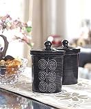 VarEesha Black Glazed Stoneware Jars Set...