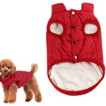 Kismaple Cane accogliente vello Giacca invernale Cappotto foderato  Abbigliamento Gilet imbottito caldo per Extra Large Abbigliamento 299de0252e1a
