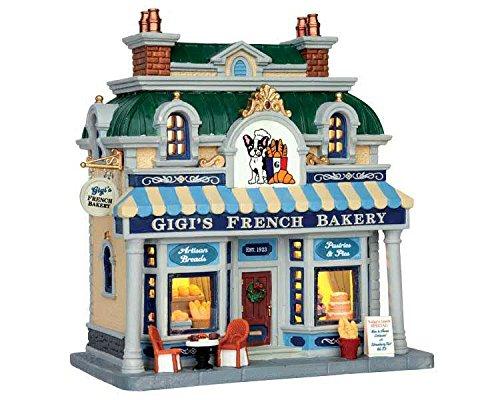 Lemax - Gigi's French Bakery - 21,40cmx22,30cmx12,90cm - Beleuchtete Bäckerei - LED - Porzellan (Porzellan-weihnachtsdorf)