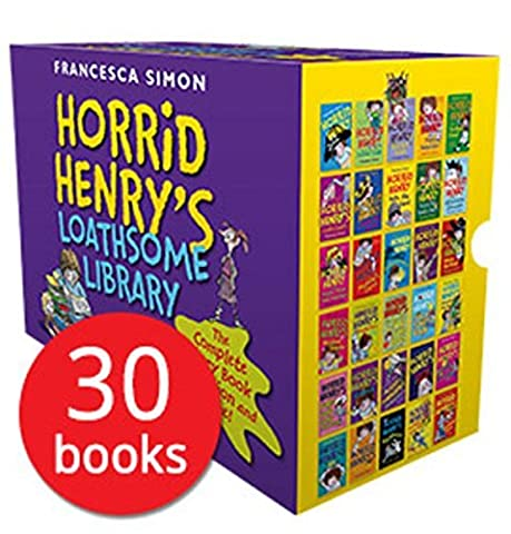 Horrid Henry's Loathsome Library Collection 30 Books Bundle (Horrid Henry,Horrid Henry Meets the Queen,Horrid Henry's Monster Movie,Horrid Henry's Hilariously Horrid Joke Book,Horrid Henry Get's Rich Quick,Horrid Henry's Haunted House,Horrid Henry's Jolly Joke Book,Horrid Henry's Double Dare,Horrid Henry and the Zombie Vampire,Horrid Henry and the Mummy's Curse,the Secret Club,the Mega-Mean Time Machine,Joke Book,the Football