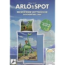 Arlo & Spot microfibra cama 80x 80/135x 200cm Disney The Good Dinosaur, microfibra, azul, 135 x 200 cm