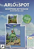 ARLO & SPOT Mikrofaser Bettwäsche 80x80 / 135x200 cm Disney The Good Dinosaur (blau)