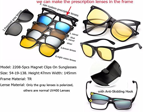 36e2429088734 ... Vast Polarized Clip Sunglasses Plus Spectacle Frame (5 IN 1). Sale