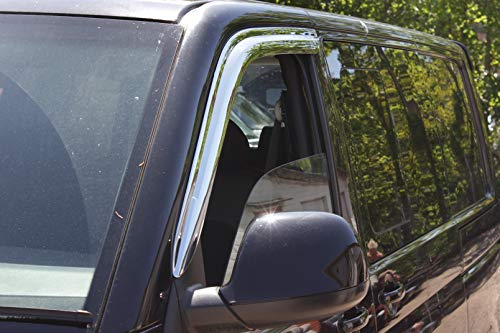 Autoclover Windabweiser für VW Transporter T5/T6, 2-teiliges Set, Chrom