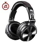 OneOdio Bluetooth Kopfhörer, 30 Stunden Spielzeit, Kabellos/verkabelt Over Ear Headset Dual 50mm Treiber, DJ Kopfhörer (Kabellos/verkabelt, Schwarz)