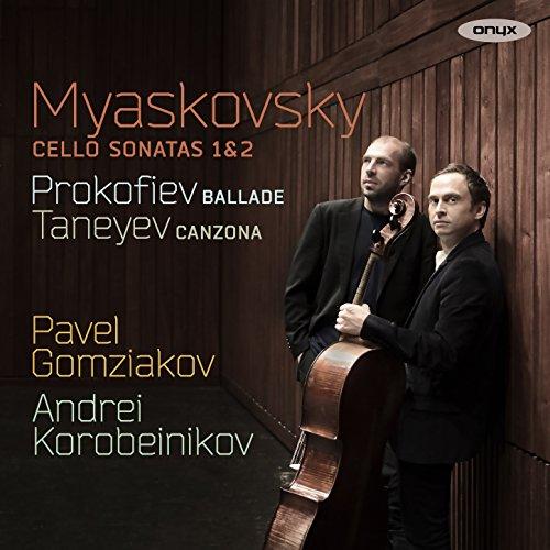Myaskovsky: Cello Sonatas, Prokofiev: Fantasy & Taneyev: Canzona