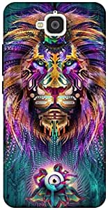 The Racoon Lean The Lions Gaze hard plastic printed back case / cover for Huawei Honor Holly 2 Plus