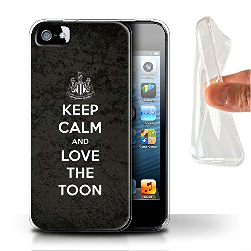 Offiziell Newcastle United FC Hülle / Gel TPU Case für Apple iPhone 5/5S / Pack 7pcs Muster / NUFC Keep Calm Kollektion Liebe Toon
