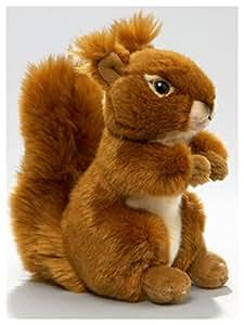 Écureuil debout en peluche env. 17cm Longueur dos Diagonal avec tête de Carl Dick