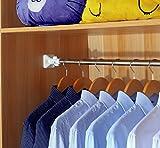 FAFZ Gancio dei vestiti Teli per tende da doccia in acciaio inox tele telescopiche tende per barre tonde per barche in acciaio inox mensole di abbigliamento (dimensioni : 50-80cm)