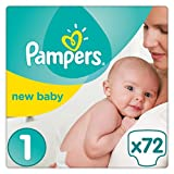 Pampers Premium Protection Nappies New Baby Jumbo Pack - Size 1, Pack of 72 Bild
