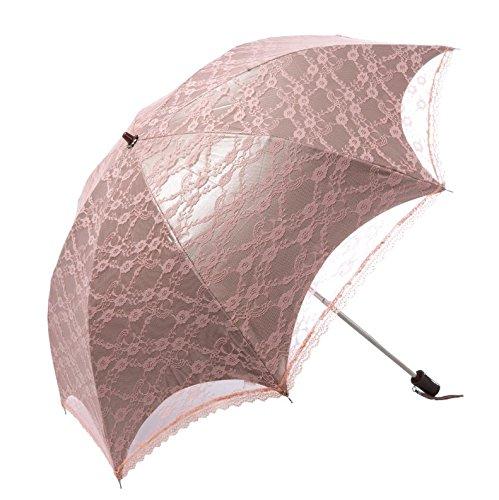 ZZSIccc Vinyl sonnenschirme Schatten Sonnenschutz bestickter Damen Schirme und UV-beständigem Acryl Regenschirm, (Acryl Schatten)