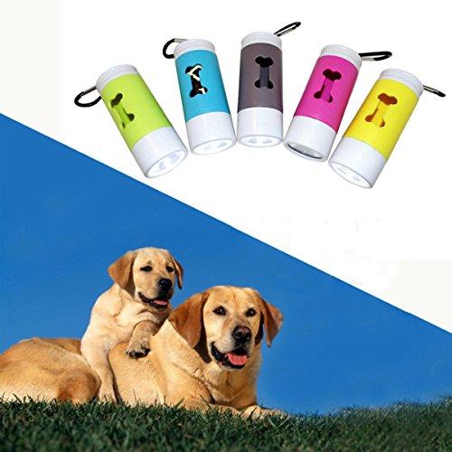 Global LED Taschenlampe Spender für Haustier Hund Katze Poop Scoop Abfall Taschen Roll Refill Clean Up -