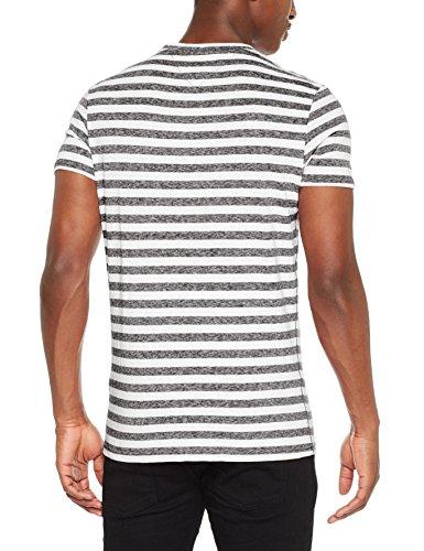 Tommy Jeans Herren T-Shirt Tjm Essential Stripe Tee Schwarz (Tommy Black 078)