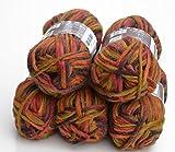 5x 50g Filzwolle Set color 188 – Golden Hill, Wolle zum Stricken und Filzen in der Waschmaschine, ausreichend für 1 Paar Schuhe bis ca. Gr. 42