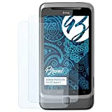 Bruni Schutzfolie für HTC Desire Z Folie - 2 x glasklare Displayschutzfolie