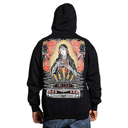 Sullen Men's Hopeless Zip-Up Long Sleeve Hoodie Black S (Dope Zip-up Hoodie)