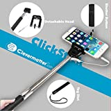#3: Clevermatter™: Universal Selfie Stick 'ClickStick' (For All Phones upto 6