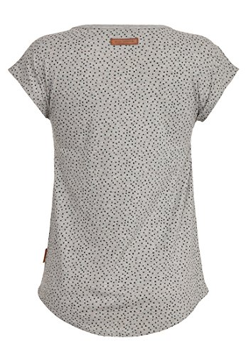 Naketano Female Shortsleeve Rooftop Bangbang Gun Smoke Grey Melange