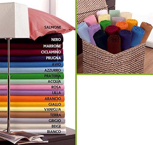 Lenzuolo sotto con angoli misura matrimoniale made in italy scegli tra 18 colori - matrimoniale ciclamino