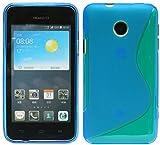 S-Line TPU SchutzHülle für Huawei Ascend Y330 Silikon Hülle in Blau @ Energmix