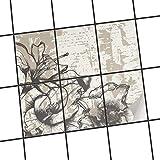 creatisto Fliesenverkleidung Designfolie | Fliesen Folie Sticker Aufkleber selbstklebend Badezimmer renovieren Küche Baddekoration | 15x20 cm Muster Ornament Styleful Vintage 1-6 Stück