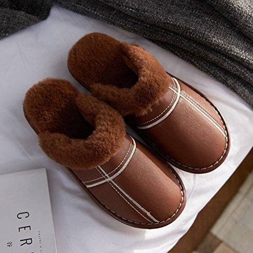 Los Del Zapatos Mujeres De Hombres Color Interior Marrón Laxba Los Slip De Deslizador ISwH8qA