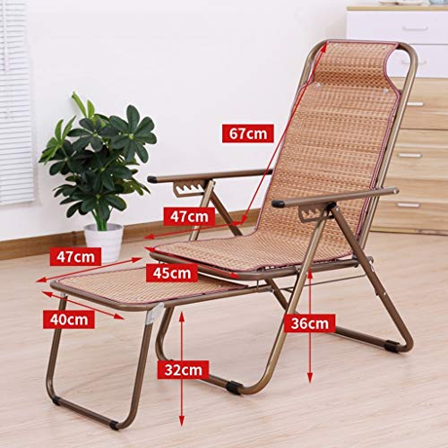 Paresseux Dossier de bambou inclinable Chaises de plage Balcon Siesta Home Cool Chaise de loisirs en plein air Jardin (Couleur : B)