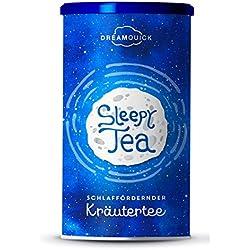 DreamQuick Sleepy Tea - Beruhigende und ausgleichende Blütenteemischung - 120 Gramm Tee in Premiumqualität mit Schlafblume, Hopfenblüten und Lavendelblüten