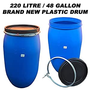 220 Litre 48 Gallon Plastic Drum Barrel Container For