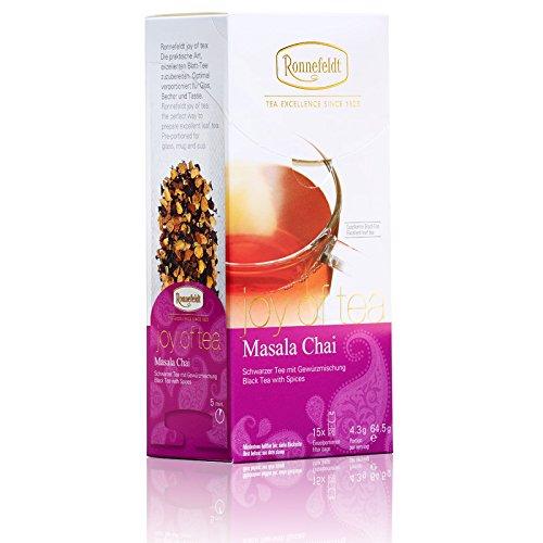 "Ronnefeldt Masala Chai ""joy of tea"" – Schwarzer Tee mit Gewürzmischung, 15 Teebeutel, 64,5 g"
