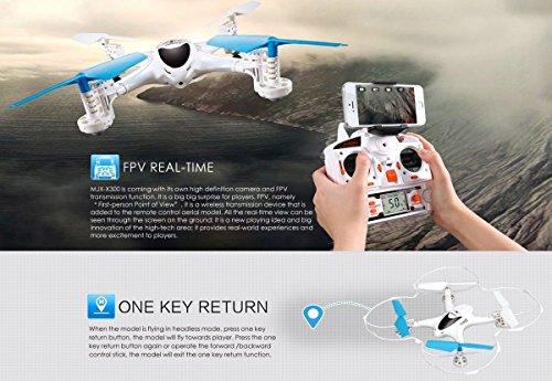 FPV RC ferngesteuerter Quadrocopter PRO mit Wifi Kamera Live-Übertragung,Headless,3D VR,Mega-Set