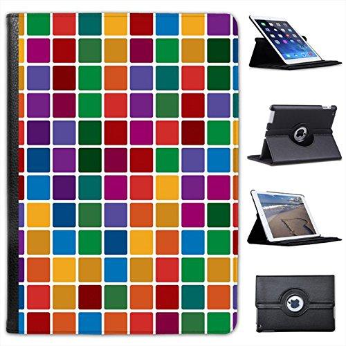 Astratto carta da parati Custodia a Libro in finta pelle con funzione di supporto per i modelli Apple iPad nero Different Coloured Tile Mosaic iPad Air 2