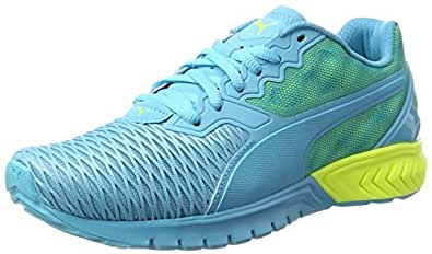 Puma Women's Ignite Dual WN's Blue Atoll and Safety Yellow Running Shoes - 8 UK/India (42 EU)