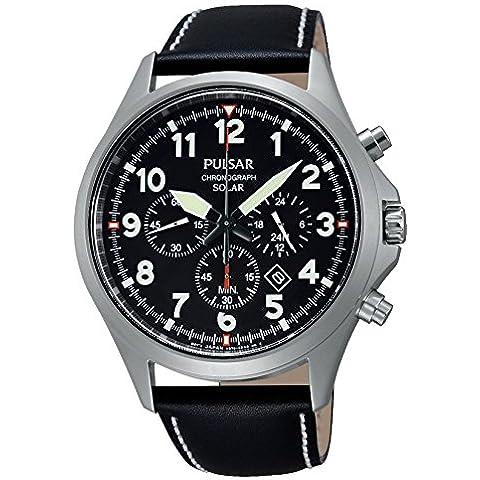 Pulsar PX5007X1 - Reloj de pulsera hombre, Cuero, color Negro