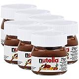 Ferrero Nutella Kleines Mini Design Glas 7er Set a 25g, Brotaufstrich, Nussnugatcreme, Schokoladen Auftrich