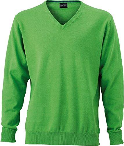 JAMES & NICHOLSON Klassischer Baumwoll-Pullover Green