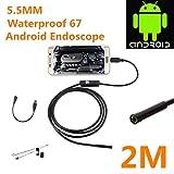 2.0 Megapixel CMOS HD USB Endoskop Kamera,Electro-weideworld 6 Einstellbare LED Wasserdichtes Endoskop Inspektions kamera Rohr Boroskop für Android Samartphone mit OTG und UVC-Funktion - 2M Kabel