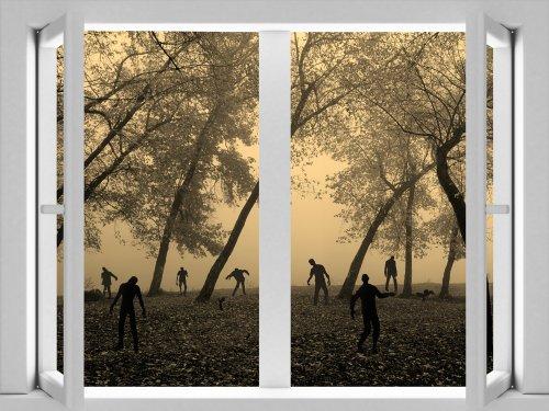 JP London cwposlt7102ustrip Lite Abnehmbare Wand Aufkleber Aufkleber Fenster Wandbild Zombie Nacht Walking Dead Apokalypse, 24x 18 (Zombie-apokalypse-aufkleber)