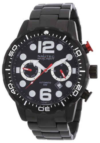 Nautec No Limit Herren-Armbanduhr XL Dolphin Analog Automatik Edelstahl beschichtet DO AT/IPIPBKBK
