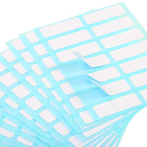 Etiquetas de Nombre Etiqueta de Carpeta Etiquetas Adhesivas de Sobre Etiquetas de Precio Etiqueta Rectangular Blanca de Vaso Botella, 13 x 38 mm, Paquete de 336